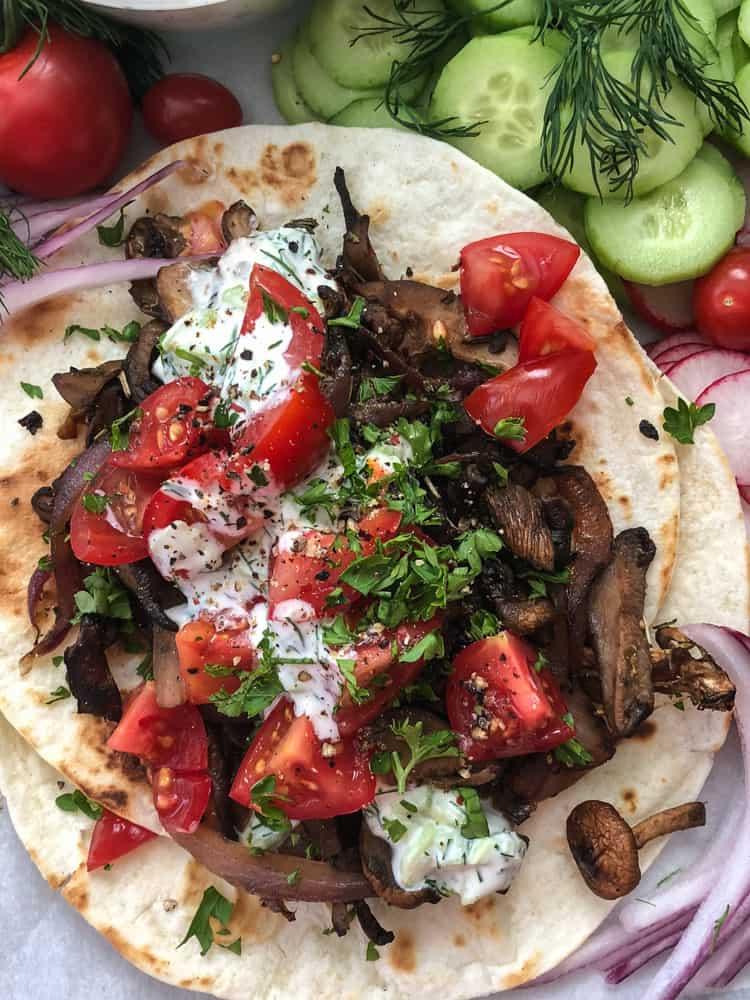 Loaded Mushroom Tacos