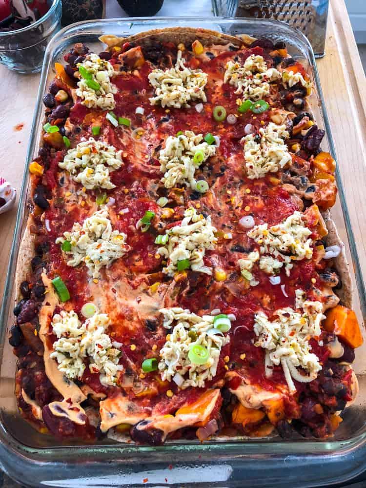 Tex Mex Lasagna Before