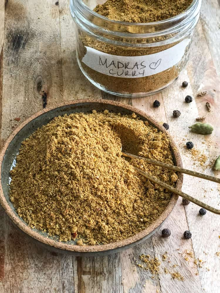 ground spice in a dish