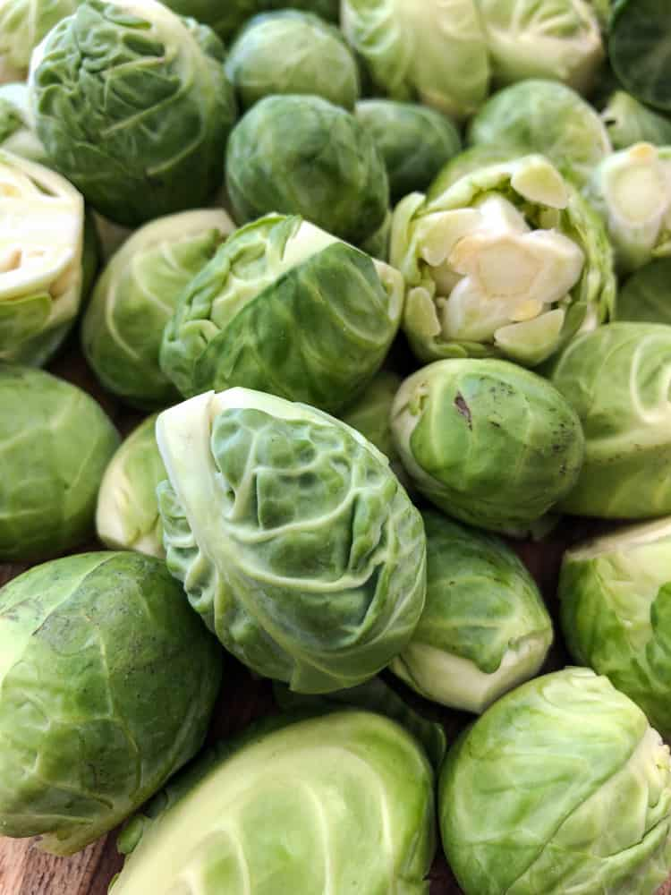 Big bag of Brussels sprouts.